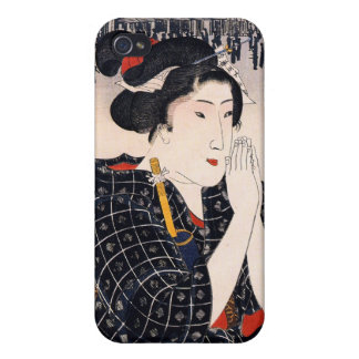 Beautiful Woman Bijin-ga, Utagawa Kuniyoshi Cover For iPhone 4