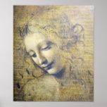Beautiful Woman By Leonard Davinci print