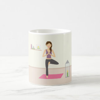 Beautiful Woman Doing Yoga In A Decorated Room Coffee Mug