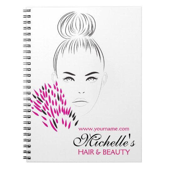 Beautiful woman fashion illustration branding notebooks