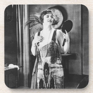 Beautiful Woman Flapper Dress 1920s Coaster