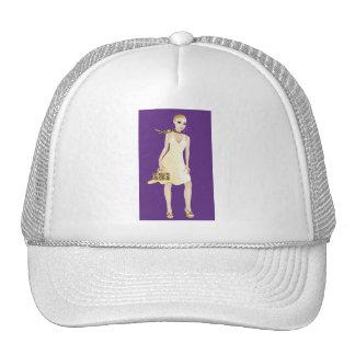 Beautiful woman illustration cap