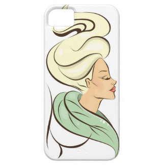 beautiful woman illustration iPhone 5 case