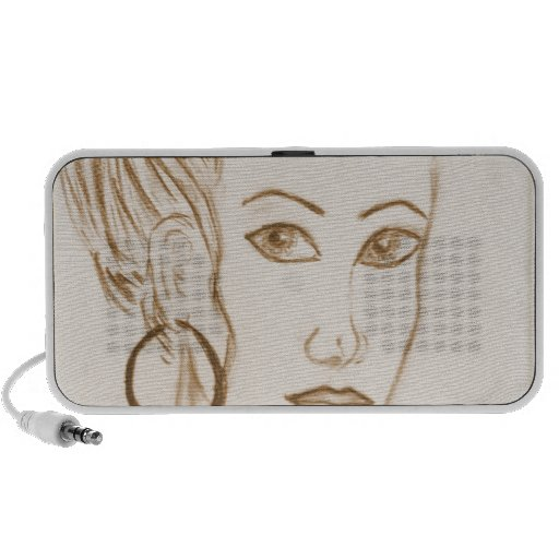 Beautiful Woman Mini Speaker