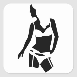 Beautiful Woman Square Sticker