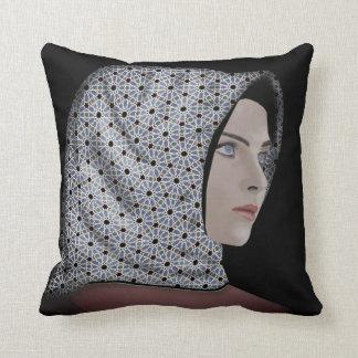 Beautiful Woman Wearing a Hijab Throw Pillow