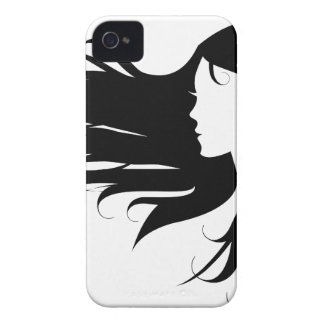 Beautiful woman with black curly hair iPhone 4 Case-Mate cases