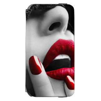 Beautiful Woman With Black Lace Mask Incipio Watson™ iPhone 6 Wallet Case
