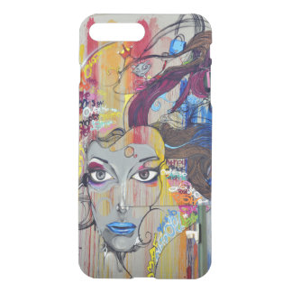 Beautiful woman with blue lips graffiti iPhone 8 plus/7 plus case