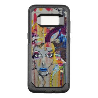 Beautiful woman with blue lips graffiti OtterBox commuter samsung galaxy s8 case
