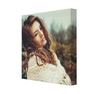 Beautiful woman - Wrap Canvas