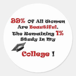 Beautiful Women 2 Full Round Sticker