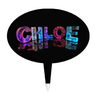 Beautiful Words - Chloe in 3D Lights Cake Topper