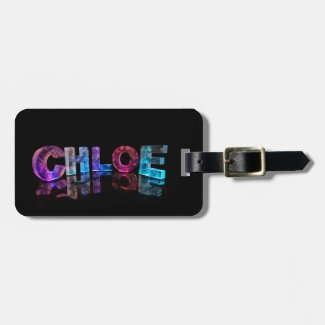 Beautiful Words - Chloe in 3D Lights Travel Bag Tags