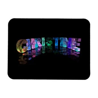 Beautiful Words - Christine in 3D Lights Magnets