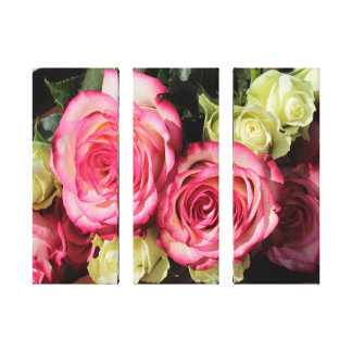 Beautiful Wrapped Canvas Roses