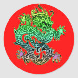 Beautiful Year of the Dragon Gifts Round Sticker