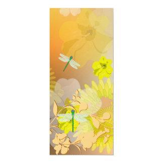 Beautiful yellow 10 cm x 24 cm invitation card