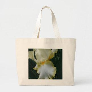 Beautiful Yellow and White Iris Large Tote Bag