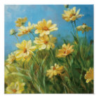 Beautiful Yellow Daisies Poster