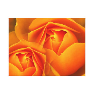 Beautiful yellow flower canvas print