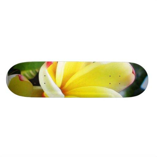 Beautiful Yellow Flower Custom Skateboard