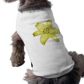 Beautiful Yellow Lily Flower Doggie T-shirt
