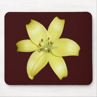 Beautiful Yellow Lily Flower Mouse Mat