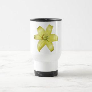Beautiful Yellow Lily Travel Mug