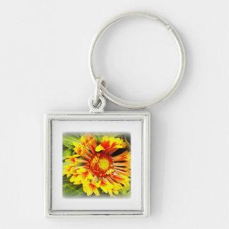 Beautiful Yellow-Orange Flower Keychains