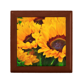 Beautiful Yellow Orange Sunflower Painting Gift Box