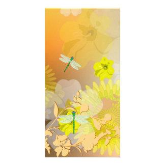 Beautiful yellow personalized photo card