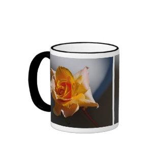 Beautiful yellow rose ringer coffee mug