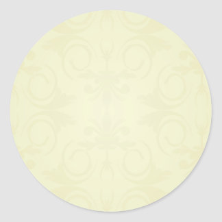 Beautiful yellow roses and floral wedding gift round sticker