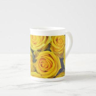 Beautiful yellow roses tea cup