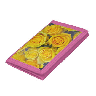 Beautiful yellow roses tri-fold wallet