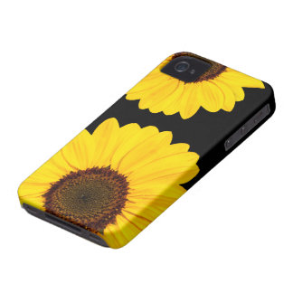 Beautiful yellow sunflowers floral iPhone 4 case
