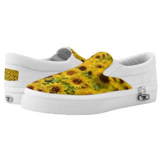 Beautiful Yellow Sunflowers Zipz Slip On Shoes