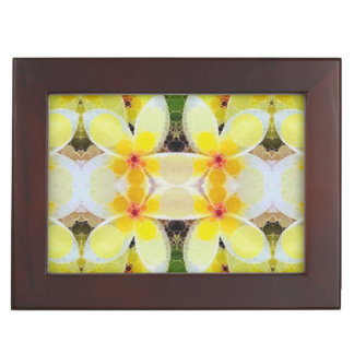 Beautiful Yellow White Abstract Memory Boxes