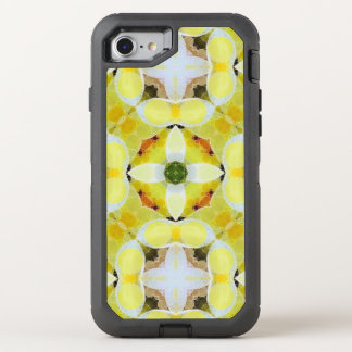 Beautiful Yellow White Abstract OtterBox Defender iPhone 8/7 Case