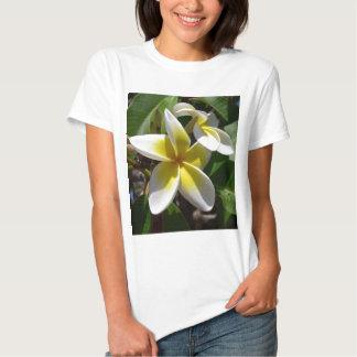 Beautiful yellow-white Plumeria flower Tshirt