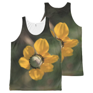 Beautiful Yellow Wildflower All-Over Print Tank Top