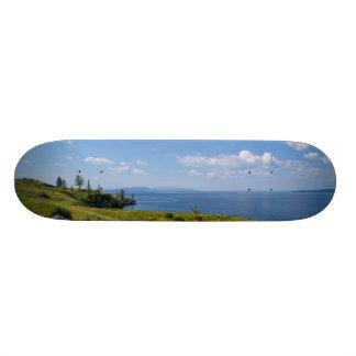 Beautiful Yellowstone Lake Skate Board