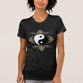 Beautiful Yin Yang Design in Black and Gold T-Shirt