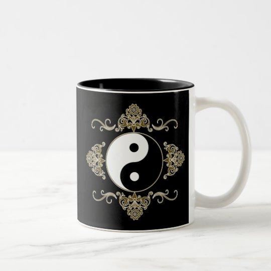 Beautiful Yin Yang Design in Black and Gold