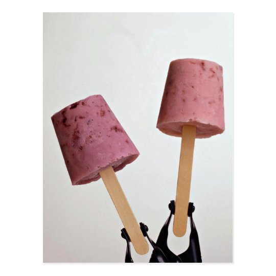 Beautiful Yogurt pops Postcard