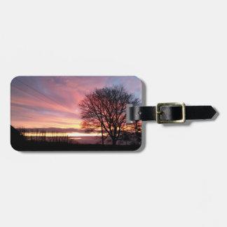 Beautiful Yorkshire sunset baggage label Luggage Tag
