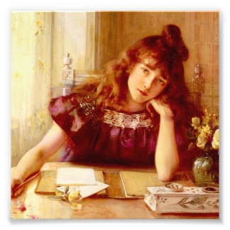 Beautiful,young lady,by Albert Lynch,Belle epoque, Photo