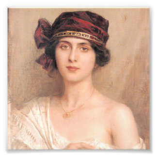 Beautiful,young lady,by Albert Lynch,Belle epoque, Photographic Print