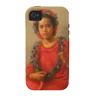Beautiful Young Lei Seller In Old Hawaii iPhone 4/4S Cover